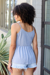 Babydoll Tank in Denim Back View
