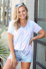 Model wearing the Tie-Dye Tee