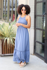 Smocked Maxi Dress Front View