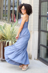 Smocked Maxi Dress Side View