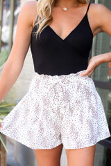 Ivory - Floral Shorts