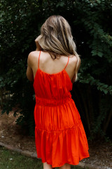 Tiered Halter Dress Back View