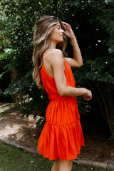 Tiered Halter Dress Side View