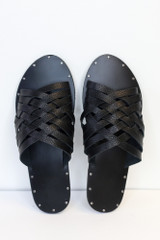 Close Up of the Braided Sandals