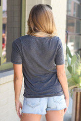 Ultra Soft Tee in Charcoal Back View