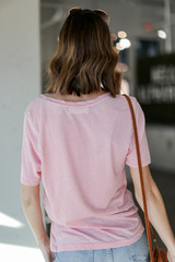 Ultra Soft Tee in Blush Back View