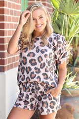 Blush - Leopard Lounge Shorts from Dress Up