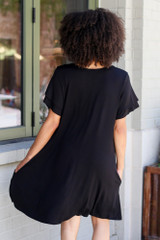 Ruffle Sleeve Dress Back View