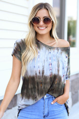 Olive - Oversized Tie-Dye Tee from Dress Up