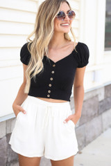 Ivory - Linen Shorts from Dress Up