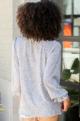 Floral Blouse Back View