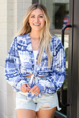 Tie-Dye Tie-Front Blouse from Dress Up