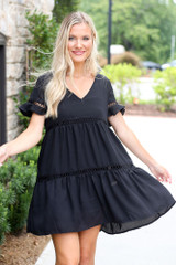 Tiered Babydoll Dress Front View