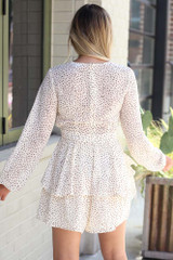 Spotted Tiered Romper Back View