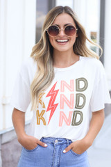 White - Kind Graphic Tee