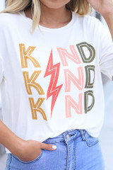 White - Kind Graphic Tee from Dress Up