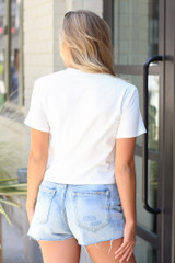 Front Pocket Cropped Tee Back View