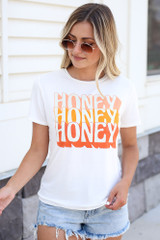 Honey Graphic Tee Front View