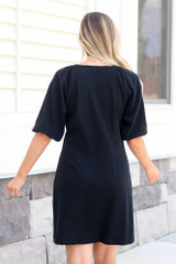 Button Front Dress Back View
