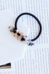 Ivory - Tortoise Acrylic Hair Tie from Dress Up