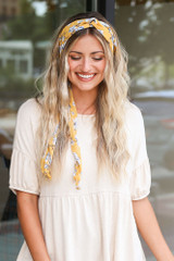 Model wearing the Floral Headband