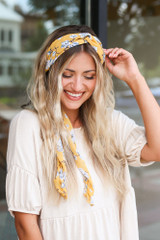 Dress Up model wearing the Floral Headband