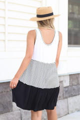 Tiered Swing Dress Back View
