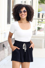 Black - basic lounge shorts