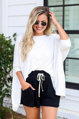 Oversized Tunic in White Front View