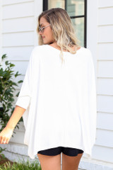 Oversized Tunic in White Back View