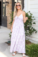 Model wearing the Paisley Maxi Dress