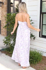 Paisley Maxi Dress Back View