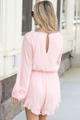 Spotted Swiss Dot Romper Back View