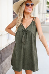 Braided Babydoll Dress Front View
