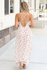 Floral Maxi Slip Dress Back View