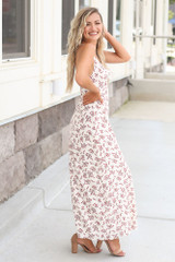 Floral Maxi Slip Dress Side View