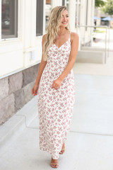 Floral Maxi Slip Dress Front View