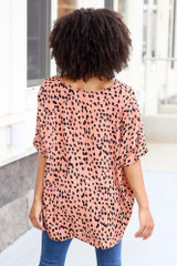 Spotted Oversized Blouse Back View