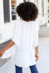 High-Low Oversized Blouse Back View
