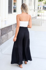 Tie-Front Wide Leg Pants Back View