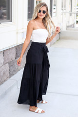 Tie-Front Wide Leg Pants Side View