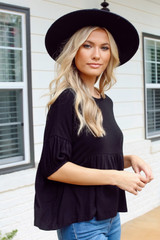 Black - Go-To Loose Fit Babydoll Tee from Dress Up