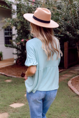 Go-To Loose Fit Babydoll Tee in Blush Side View