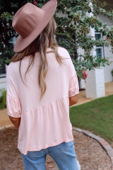 Blush - Dress Up model wearing the Go-To Loose Fit Babydoll Tee
