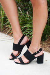 Black - cute work heels at dress up boutique