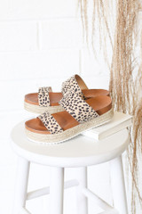 Flat Lay of the Platform Espadrilles in Leopard
