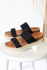 Black - Cute Summer Platform Espadrilles