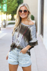 Olive - Tie-Dye Ruffle Sleeve Top from Dress Up