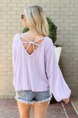 Lavender - Oversized Ribbed Knit Top from Dress Up
