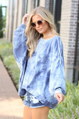 Oversized Tie-Dye Pullover Side View